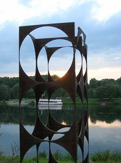 """Skulptur """"Durchblick"""" von Phillip Jenckel"""