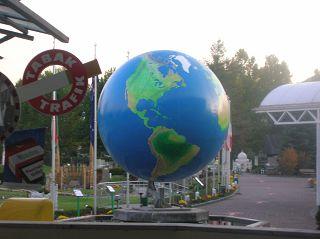 Mini-Globus in Klagenfurt
