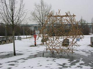 Dodekaeder aus Bambus-Stangen von Caspar Schwabe