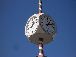 Uhr auf dem Klagenfurter Marktplatz