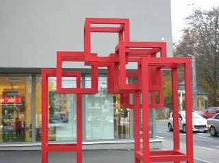 Würfelskulptur in Salzburg