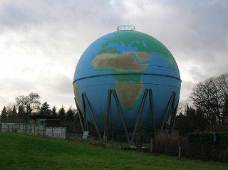 Weltkugel / Gasometer in Wetter an der Ruhr