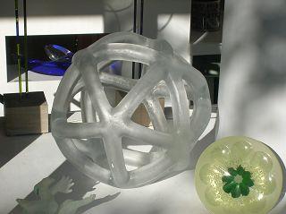 ganz aus Glas: Ikosaeder