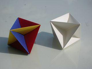 Falt-Oktaeder aus Papier: Form identisch zu Radar-Oktaeder