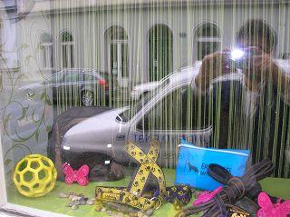 Geometrisches Spielzeug für Hunde. Graz 2011