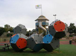 Kletter-Dodekaeder. Freienpark De Krim auf Texel, NL