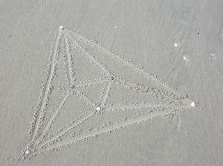 Oktaeder in Zentralprojektion (Schlegeldiagramm)