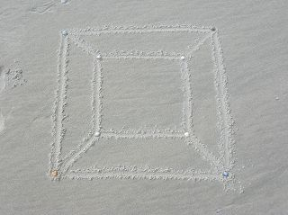 Würfel in Zentralprojektion (Schlegel-Diagramm)