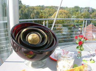 Glasschalen im Babuschka-Prinzip