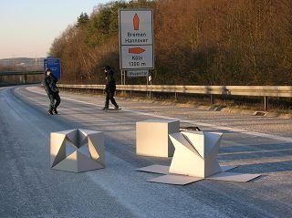 Schatz (-Würfel) auf Autobahn