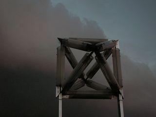 Oktaeder vor aufziehendem Gewitter in Wetter (Ruhr)